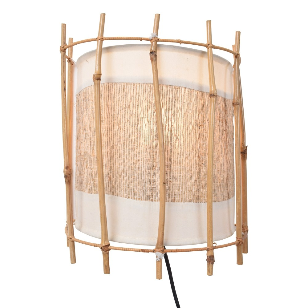 Pair of Louis Sognot Bamboo wall lights, 1960s