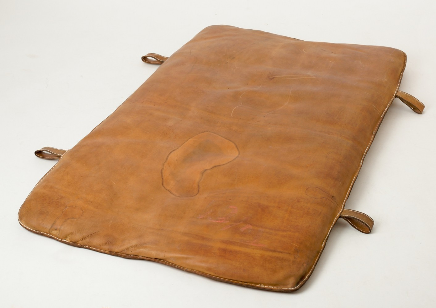 Czech Vintage Leather Gym Mat, 1930s