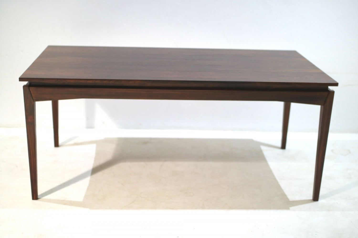 Rosewood Extendable Dining Table by H. W. Klein, 1950s