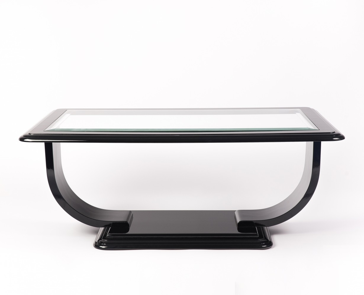 Art Deco Style Square Glass Top Coffee Table, 1940s