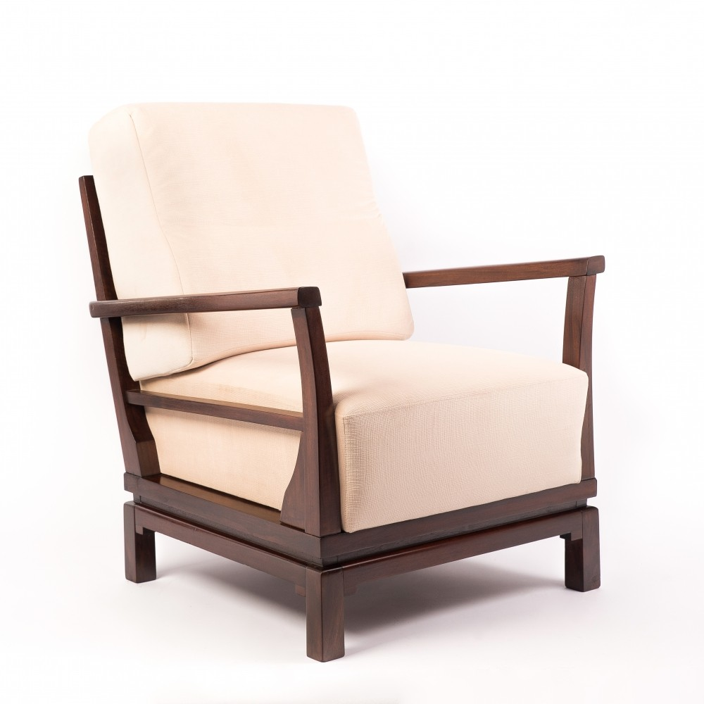 Vintage Lounge Chair in Cream by Lajos Kozma, 1930s