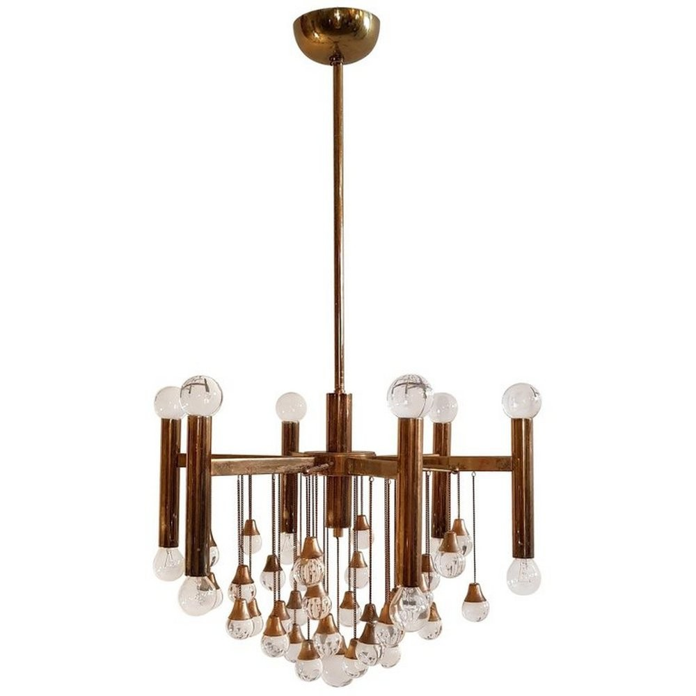 Sciolari Glass Ball Chandelier, 1960s