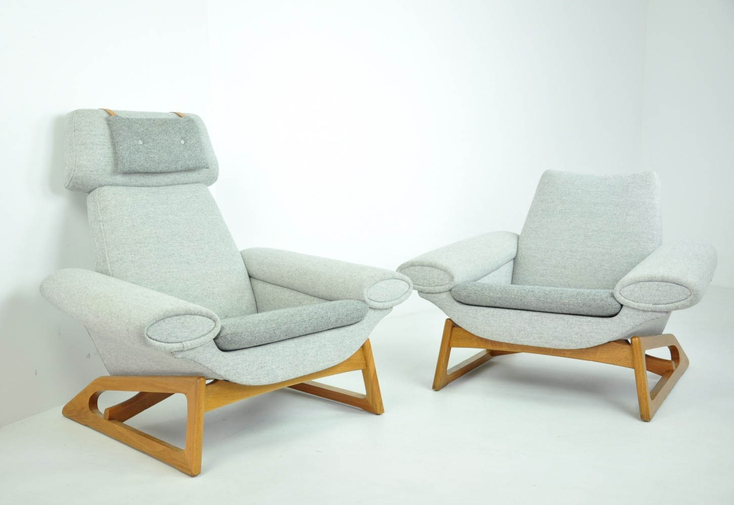 Pair of Easy Chairs, Denmark 1960s