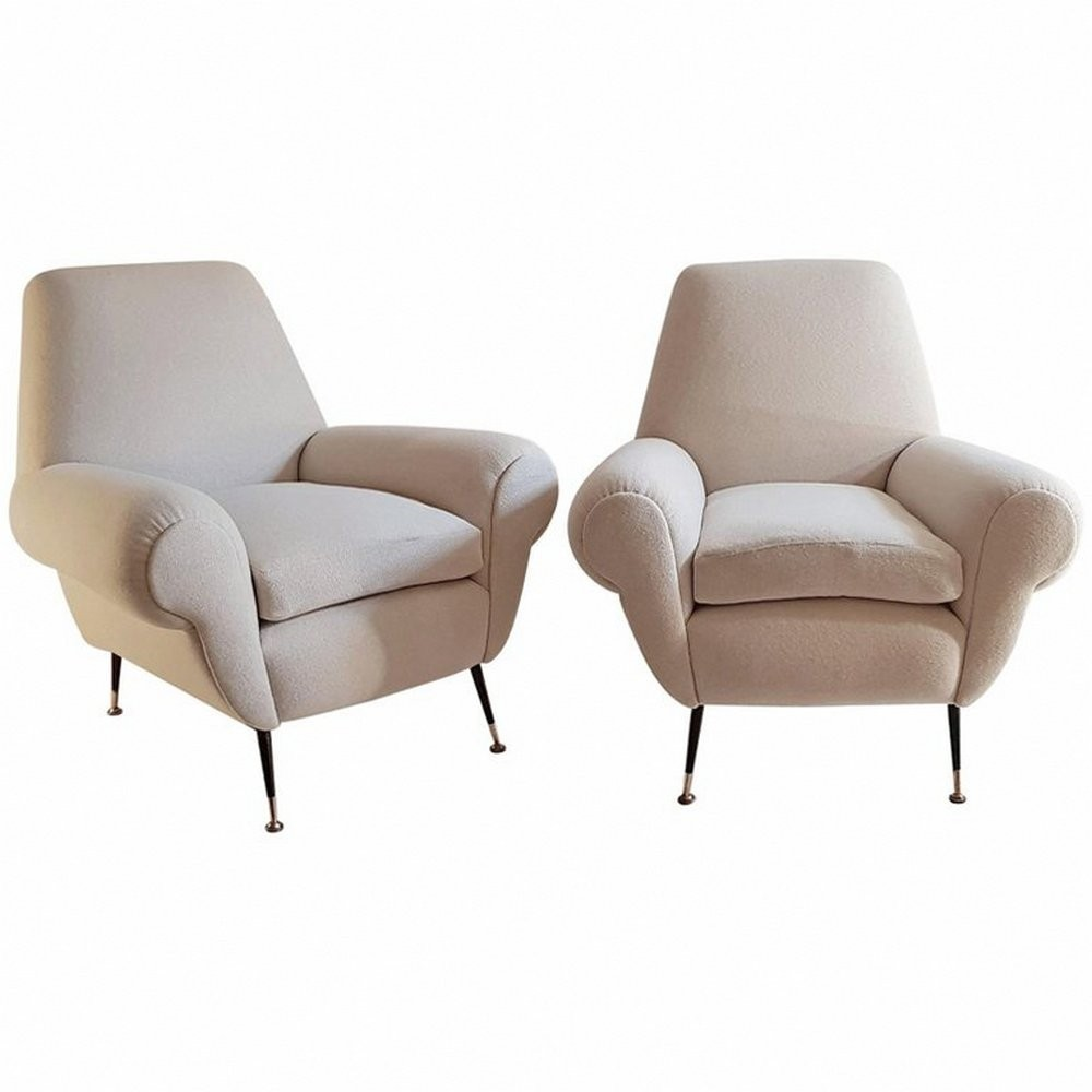 Pair of Armchairs by Gigi Radice for Minotti