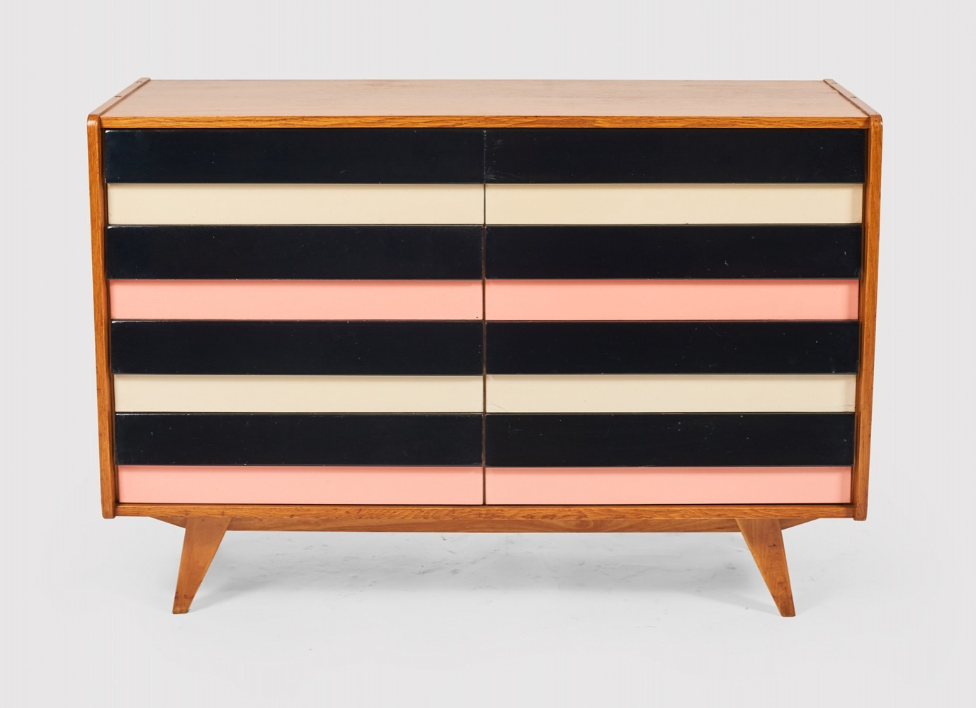Wooden chest of drawers by Jiří Jiroutek for Interier Praha, 60s
