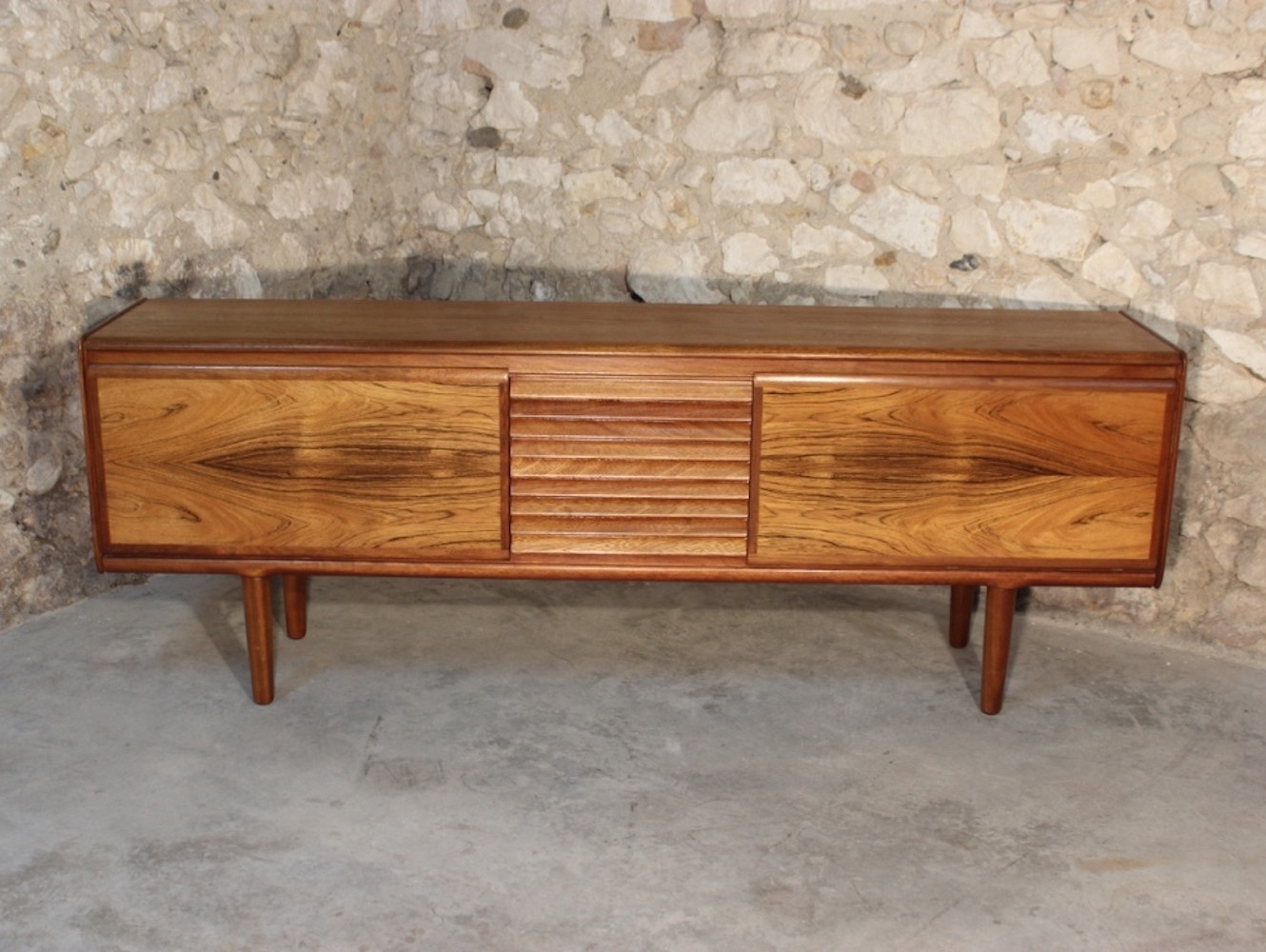 Teak & rosewood vintage sideboard by Philip Hussey for White & Newton