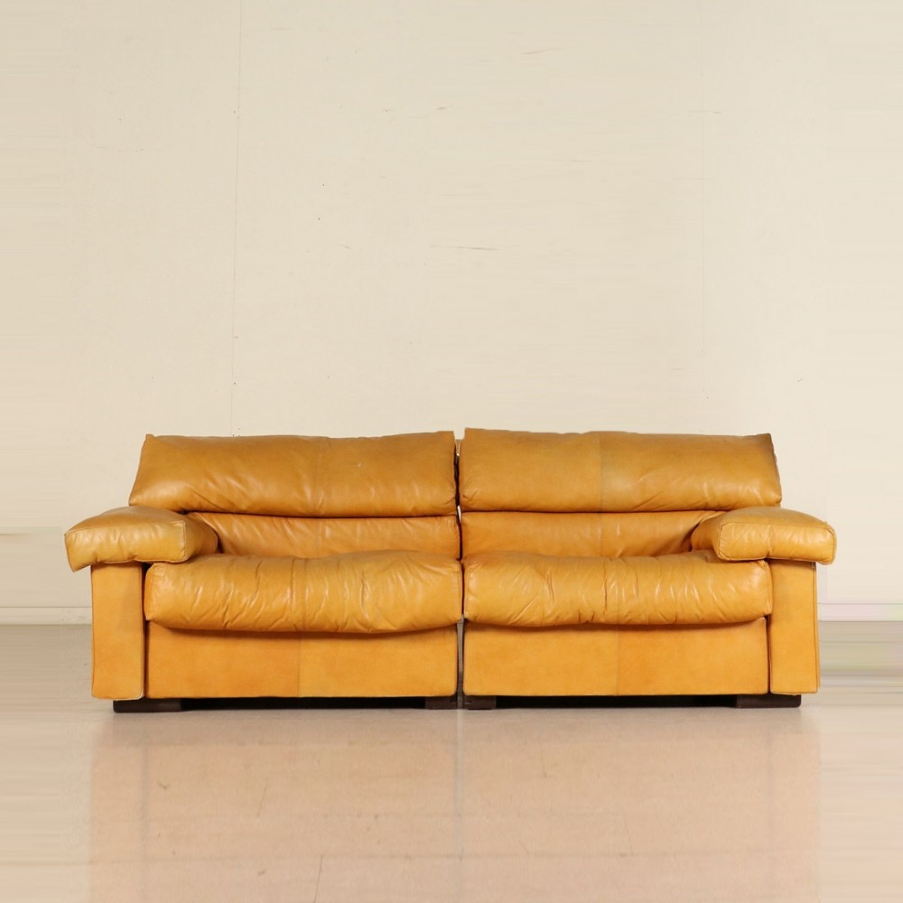 Leather Sofa by Afra & Tobia Scarpa, 1970s