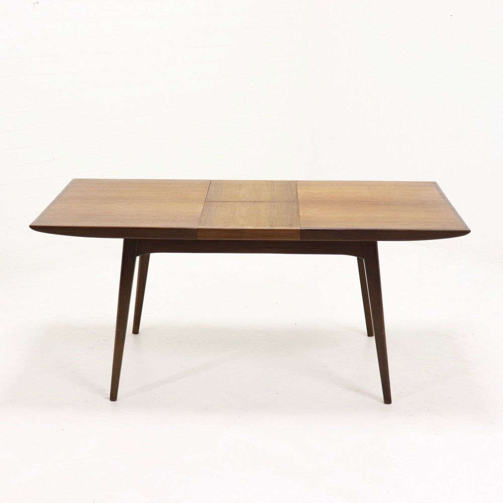 Teak Dining Table By Louis van Teeffelen for WeBe, 1950