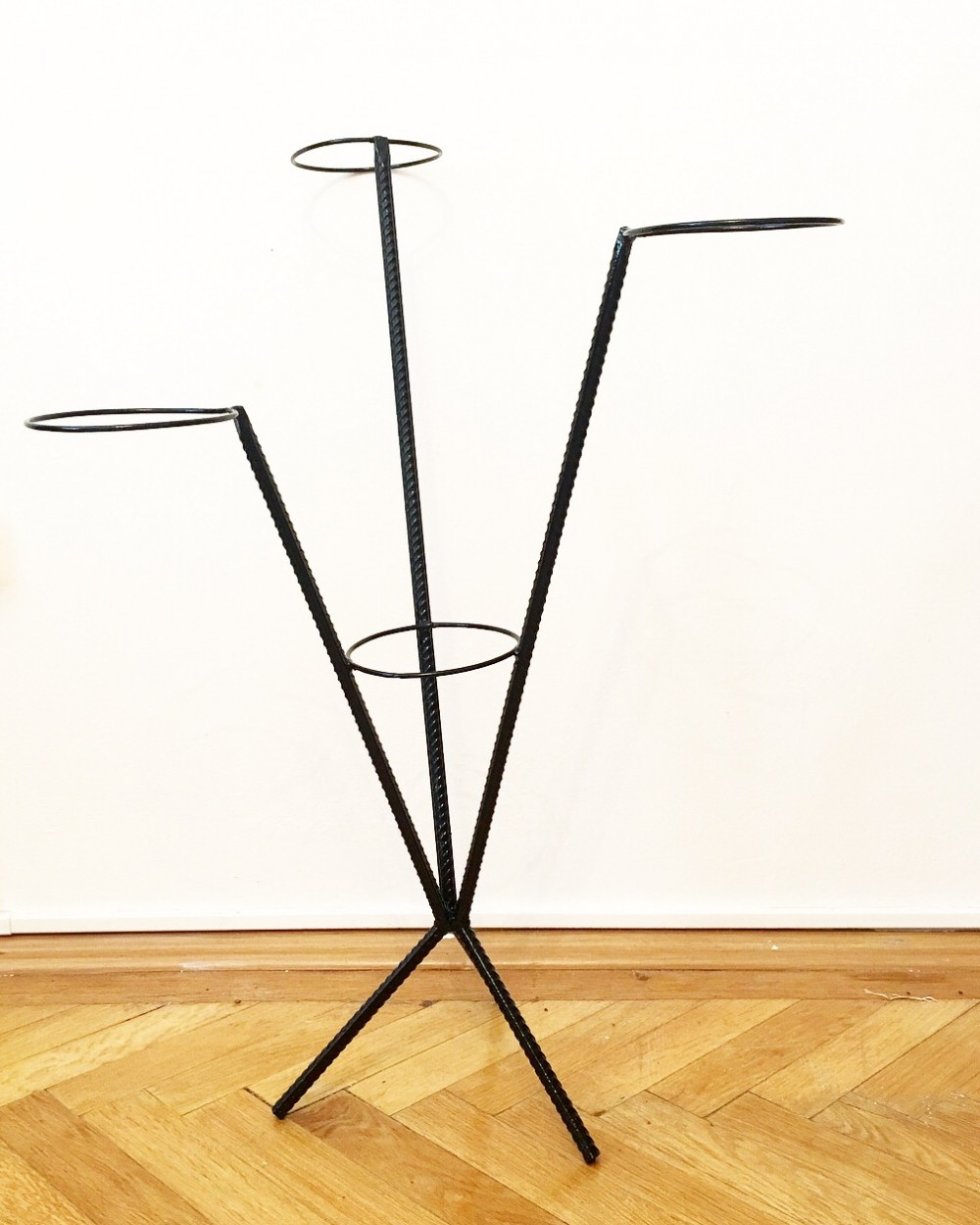 Black wire flowerstand, 1960s