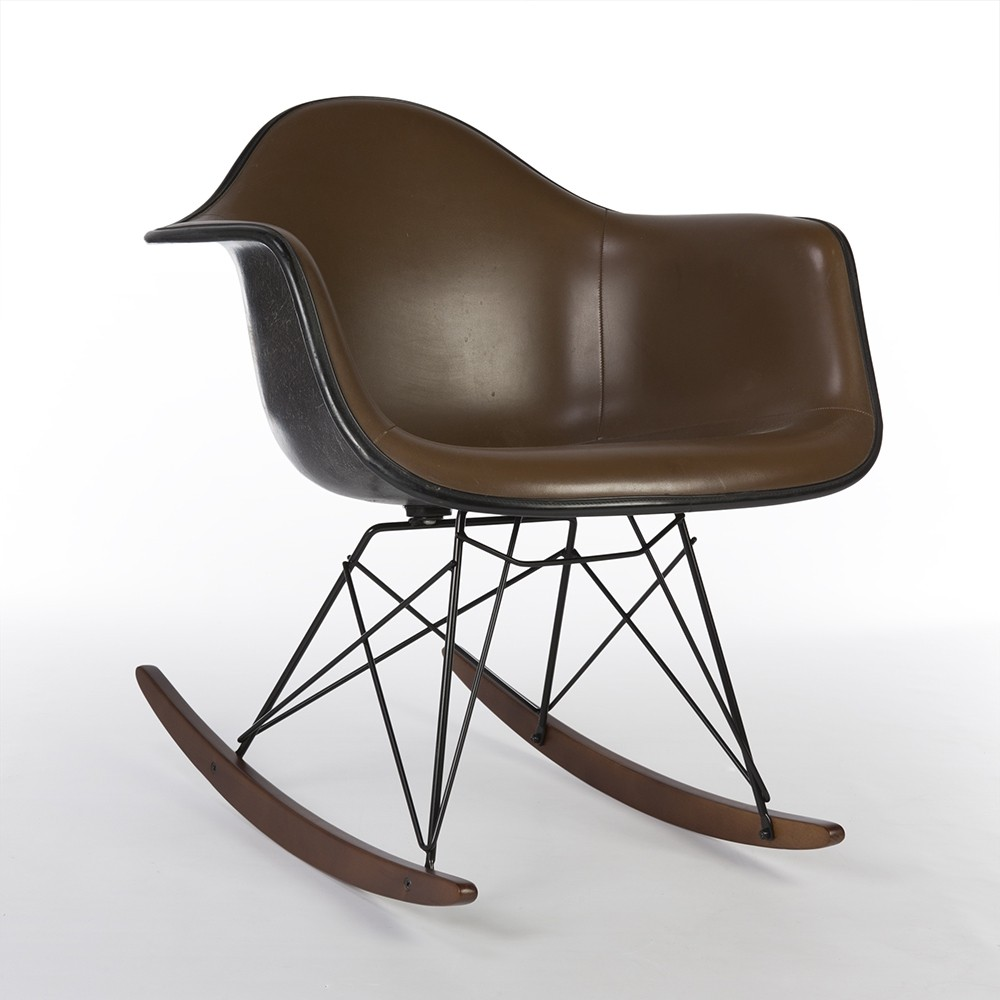 Stupendous Brown Herman Miller Original Upholstered Eames Black Rar Caraccident5 Cool Chair Designs And Ideas Caraccident5Info