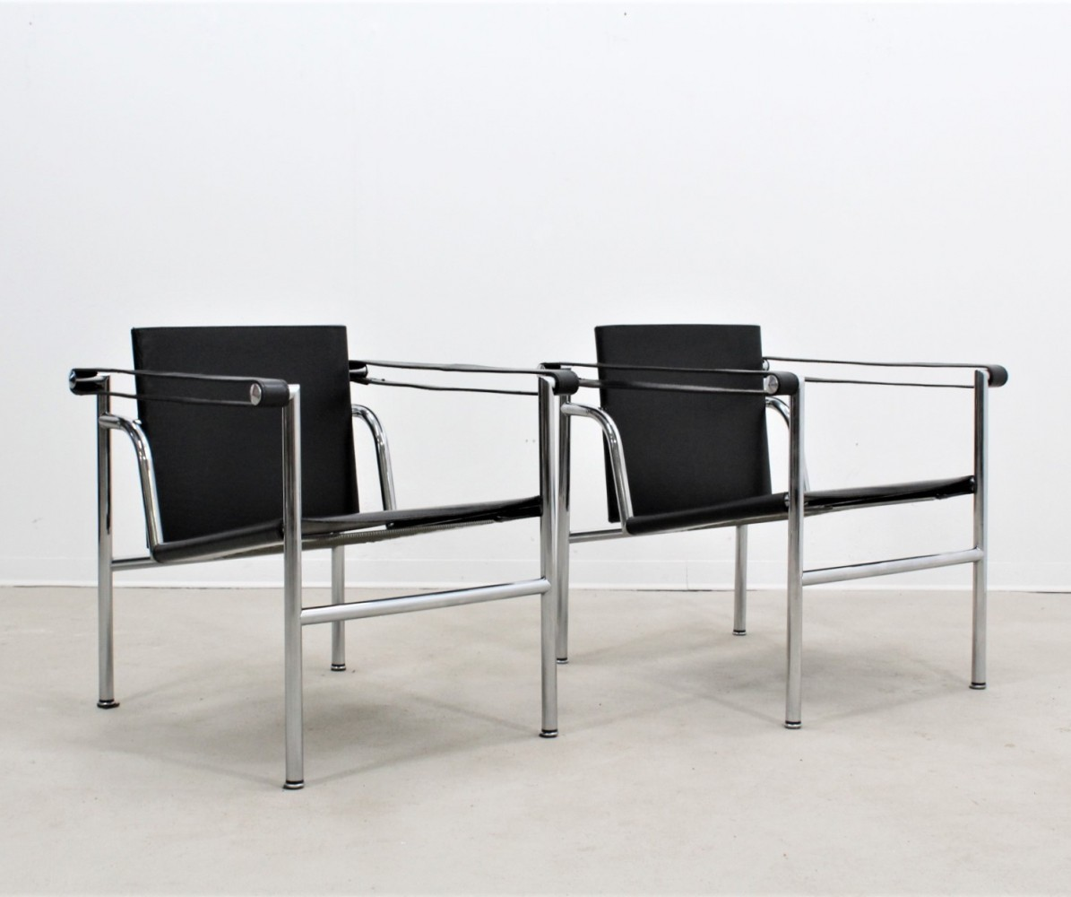 Vintage original LC1 armchairs by Le Corbusier for Cassina, 1990s