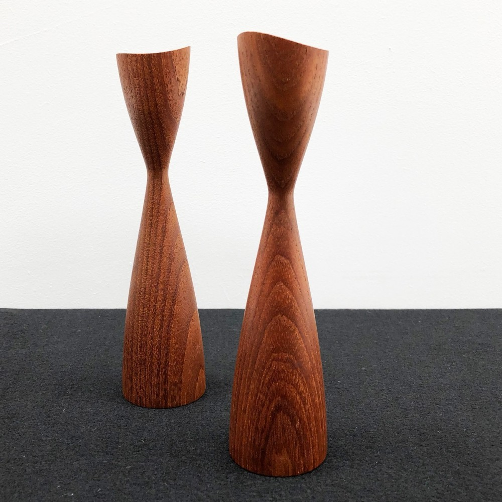 1960s Pair of Norwegian Candle Holders
