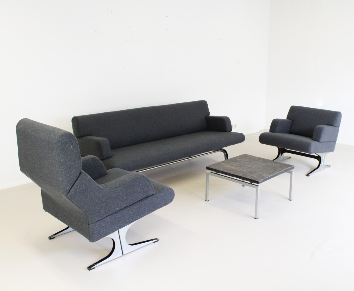BR11 + SZ11 + SZ12 seating group by Martin Visser for Spectrum, 1960s