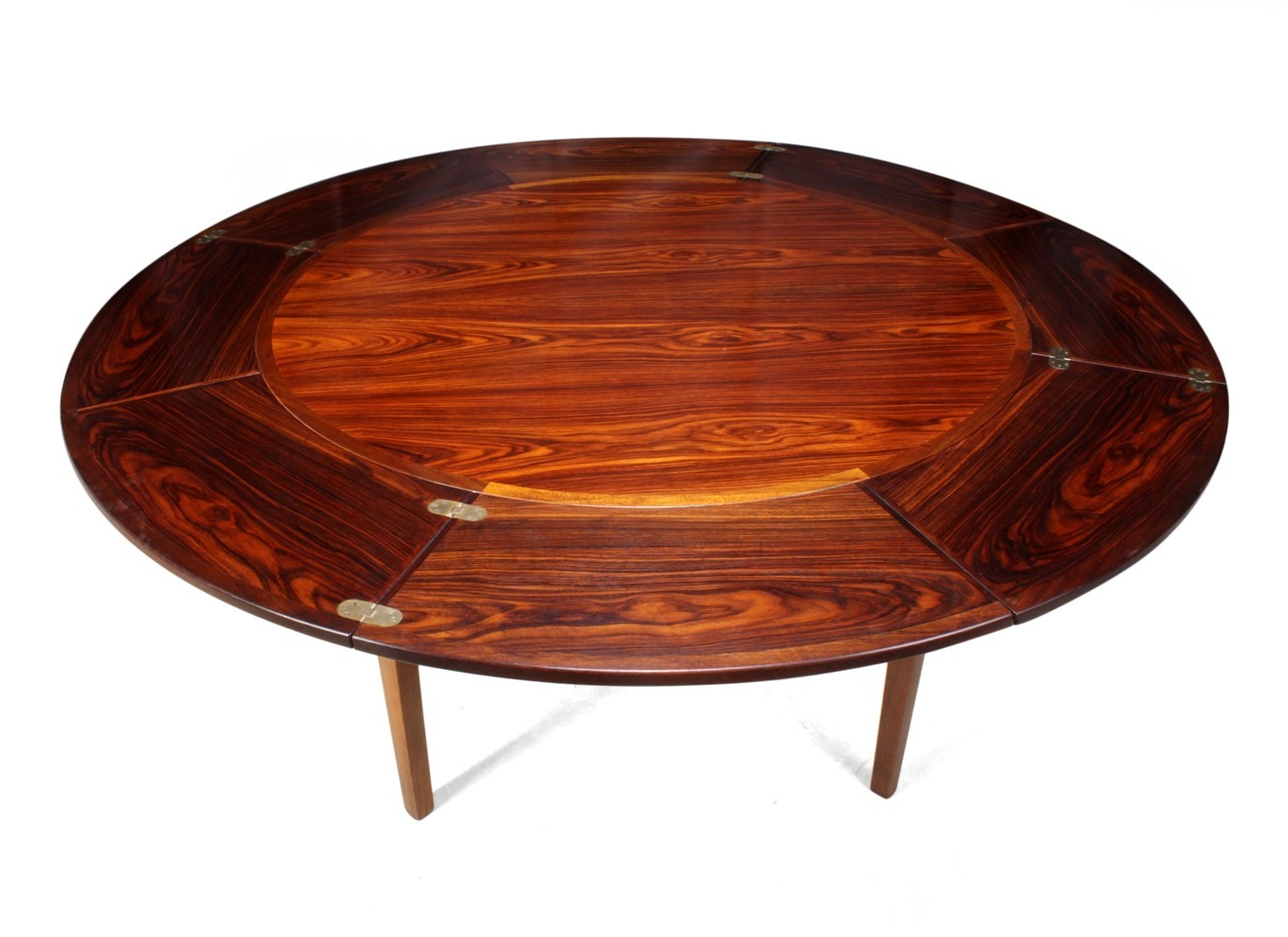 Rosewood Flip Flap Lotus Table by Dyrlund