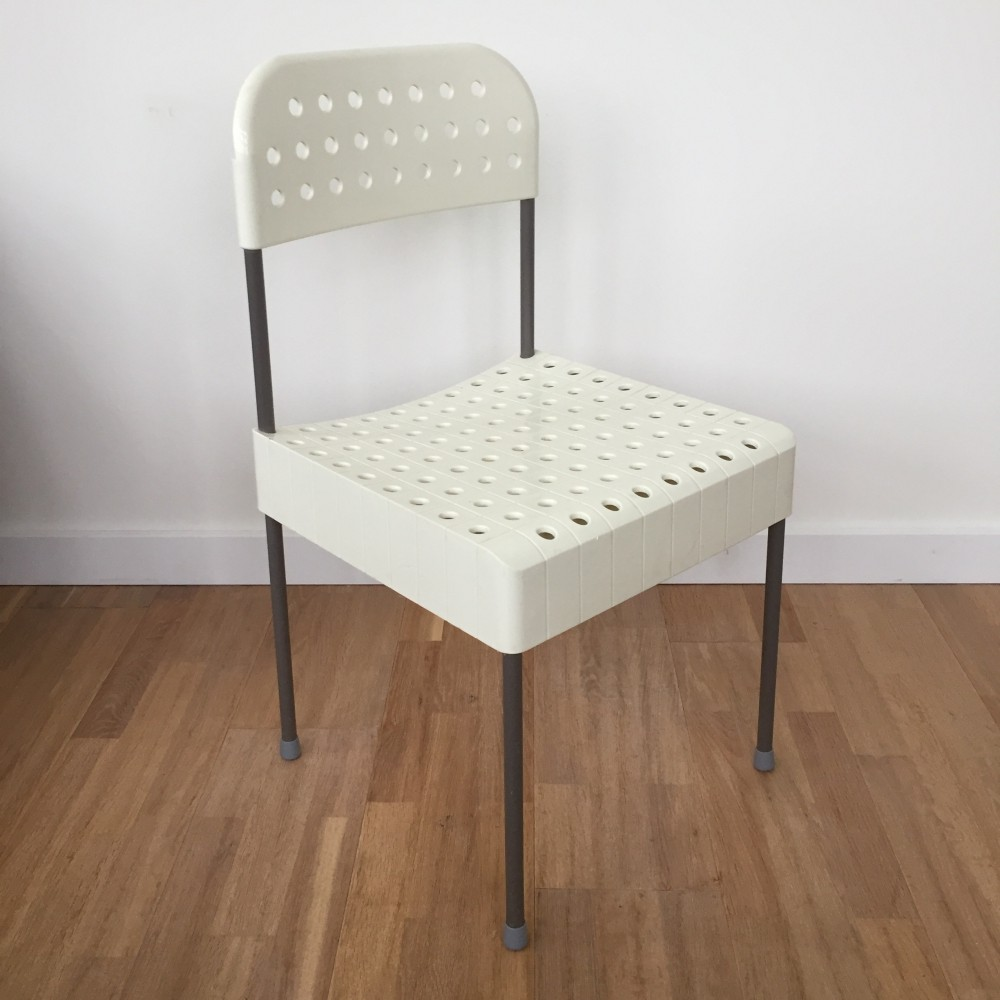 First edition plastic collapsible Box chair by Enzo Mari for Anonima Castelli