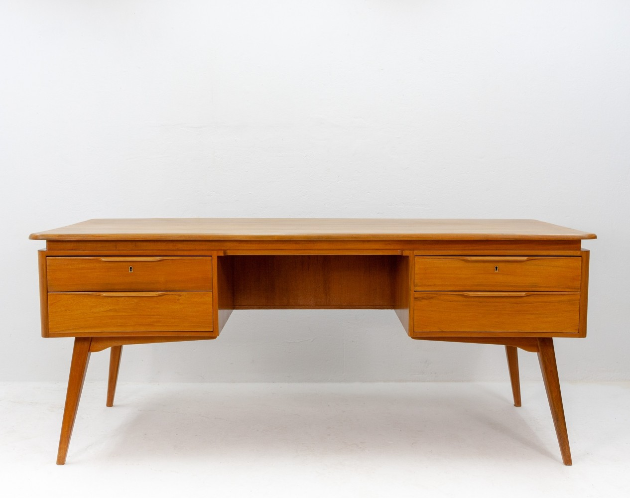 Curved writing desk by A. Patijn for Zijlstra Joure