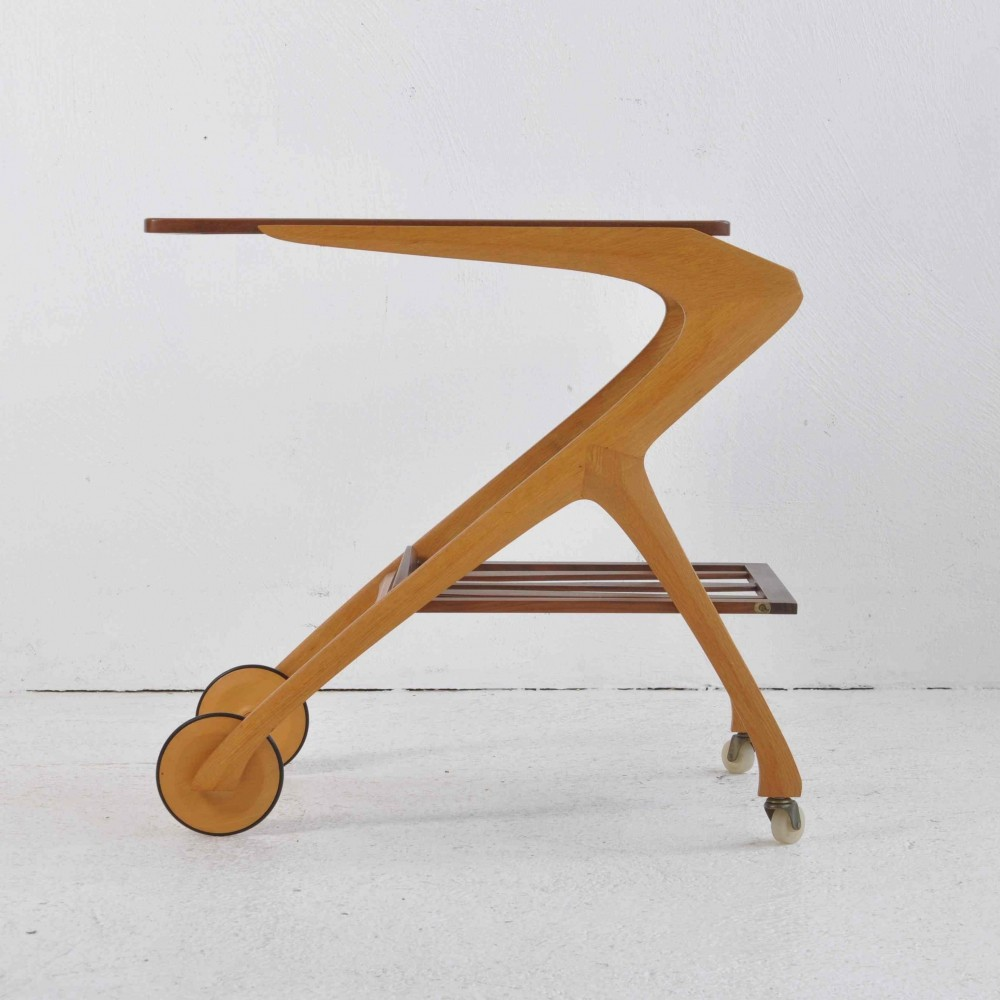 Serving Trolley by Arne Fregnell for NC Möbler, Sweden 1959