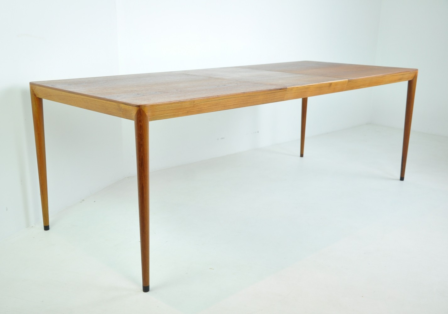 Extendable Dining Table by Erik Riisager Hansen for Haslev, Denmark 1950s