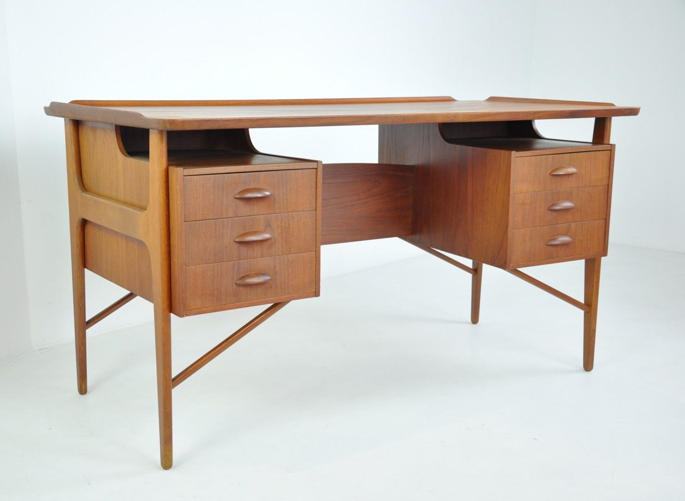 Writing Desk with Floating Top, Denmark 1960s