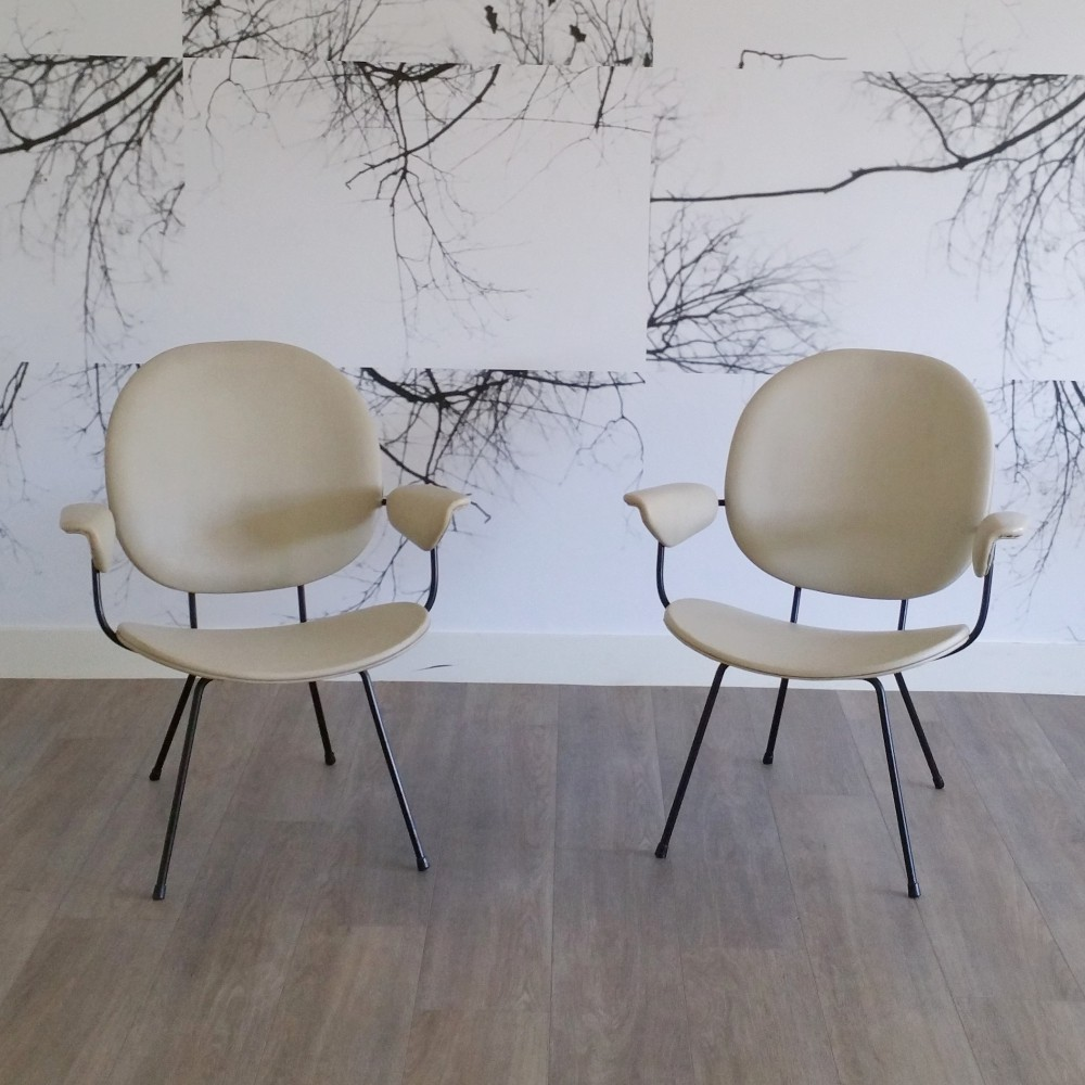Set of 2 Lounge Chairs 302 by W.H. Gispen for Kembo, 1950s