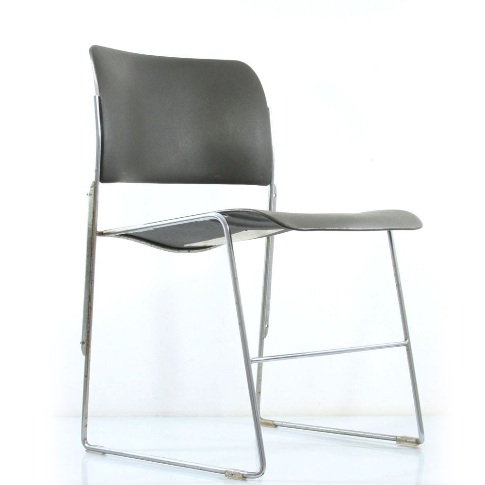 David Rowland 40/4 vintage metal design chairs for GF Furniture Systems