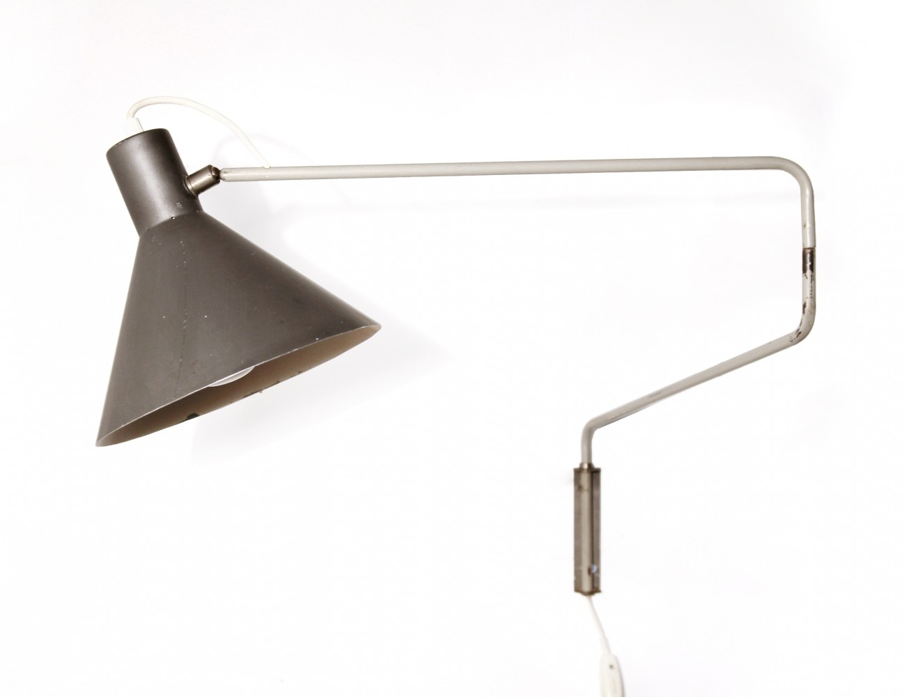 Model 7058 wall lamp by J. Hoogervorst for Anvia Almelo, 1950s