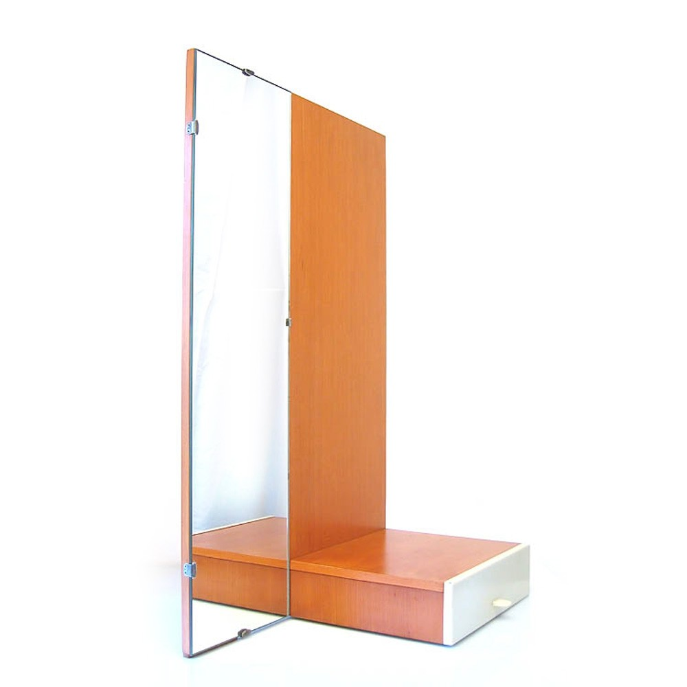 Rare Mirror with drawer wall unit by Cees Braakman for Pastoe, 1960s