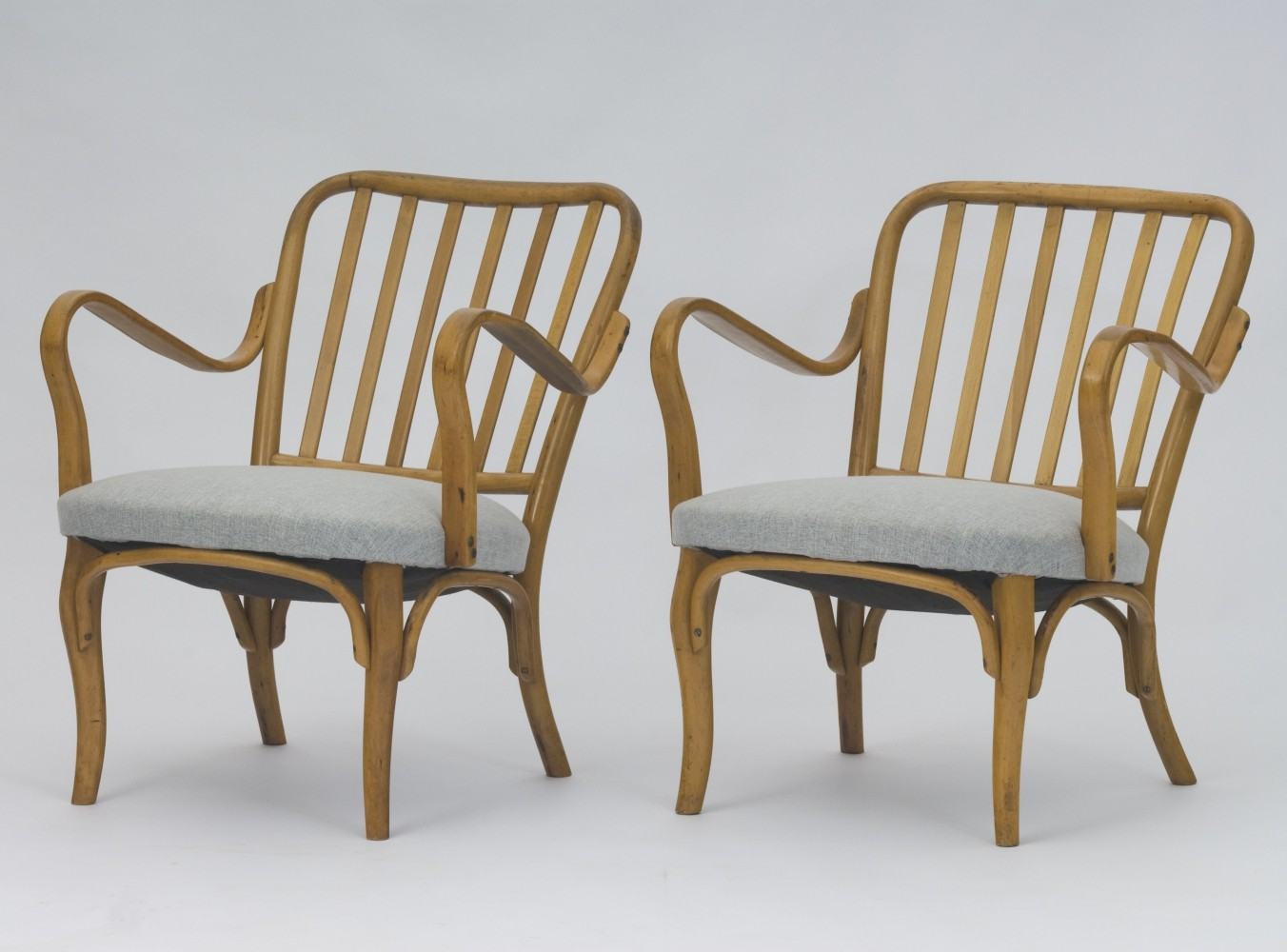 Pair of arm chairs by Josef Frank for Thonet, 1930s