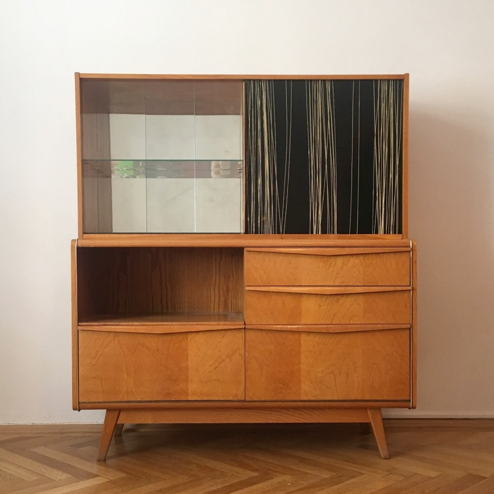 Chest of drawers with Bar by Bohumil Landsman for Jitona Soběslav, 1960