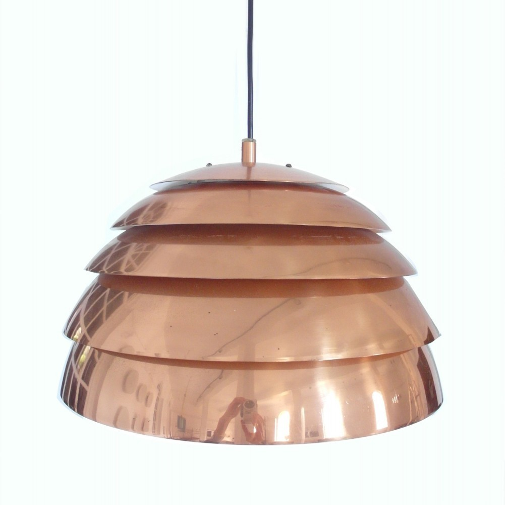 Early Hans-Agne Jakobsson Pendant in Copper for Markaryd, Sweden, circa 1958