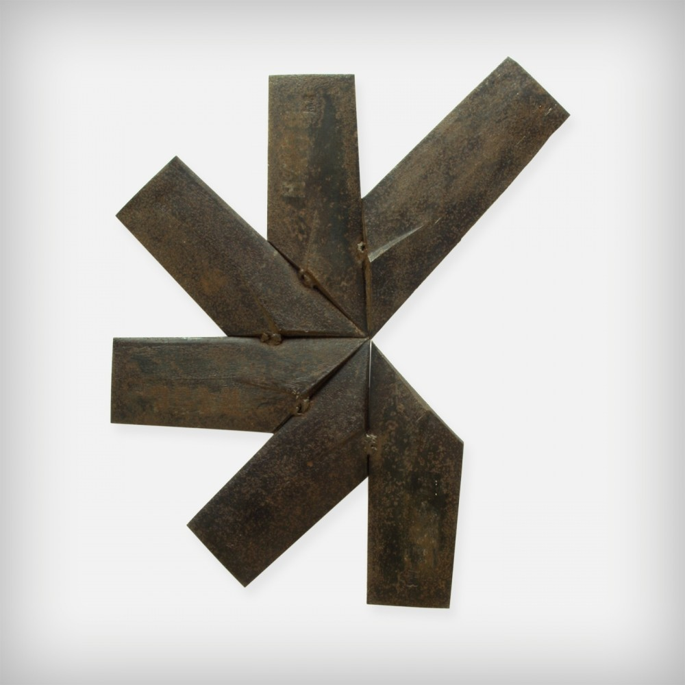 German Steel Brutalist Star Wall Art, 1960s