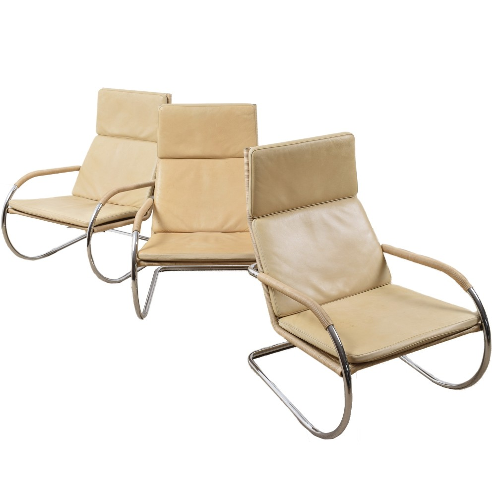 3 x D35 arm chair by Anton Lorenz for Tecta, 1970s