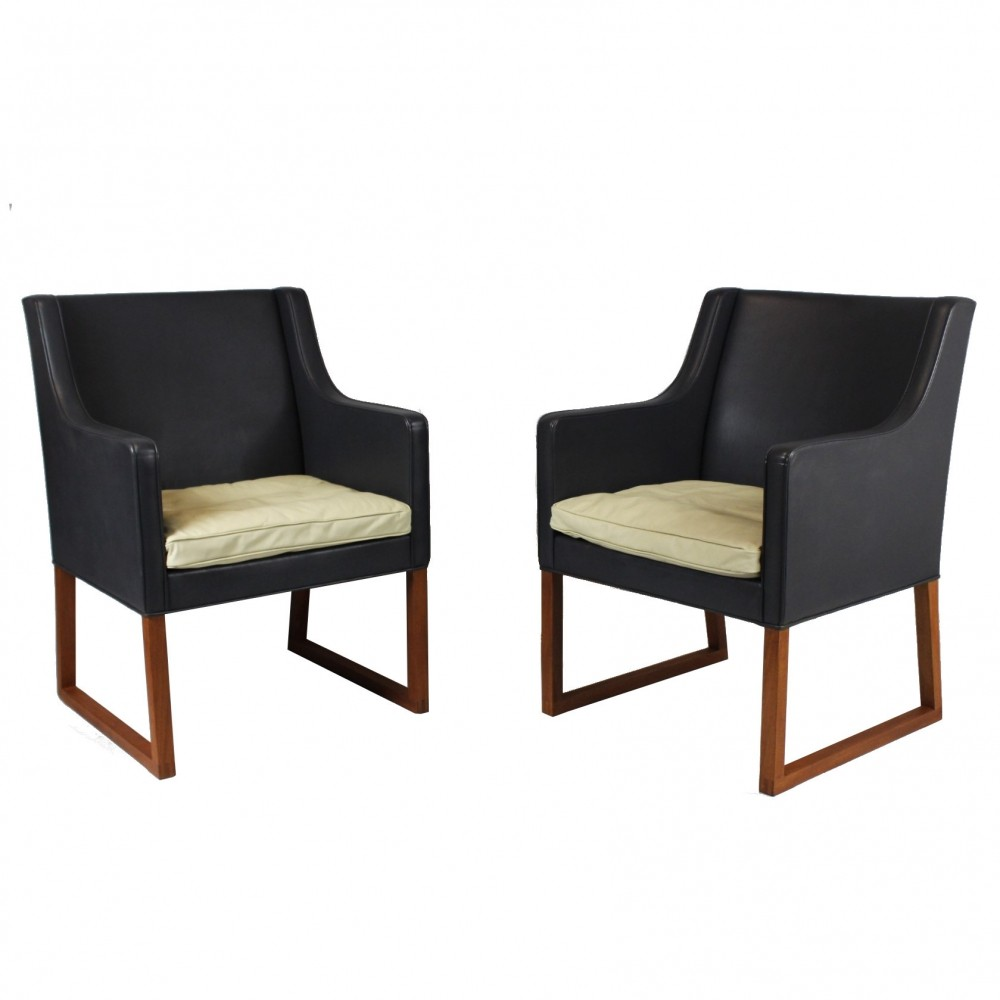 1960s Pair of Børge Mogensen Lounge Chairs Model 3246