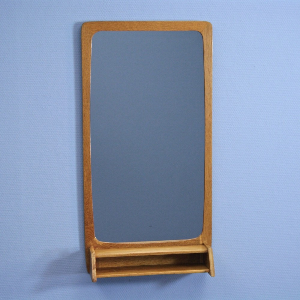 Danish mirror in oak, 1960s