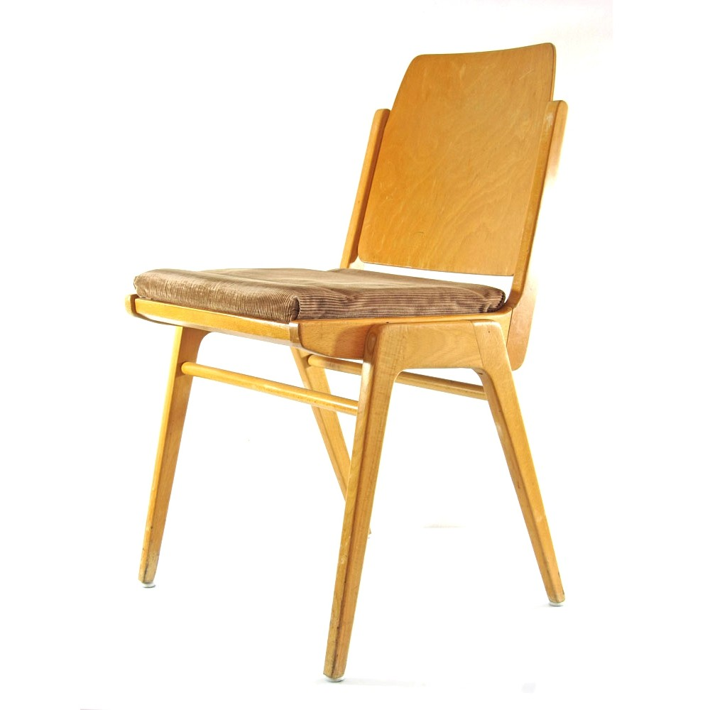 Vintage plywood chairs by Franz Schuster for Wiesner-Hager, 1959