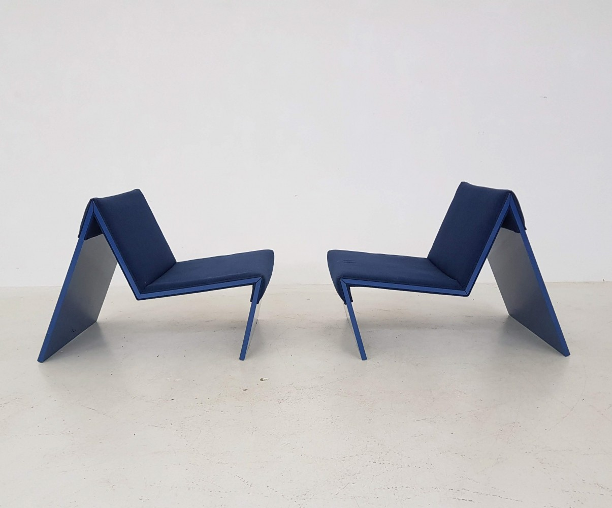 Pair of sz10 lounge chairs by Ton Haas & Hans Ebbing for Spectrum, 1980s