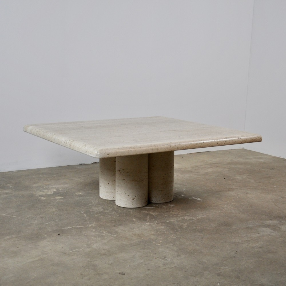 Travertine Coffee Table by Mario Bellini for Cassina, 1970s