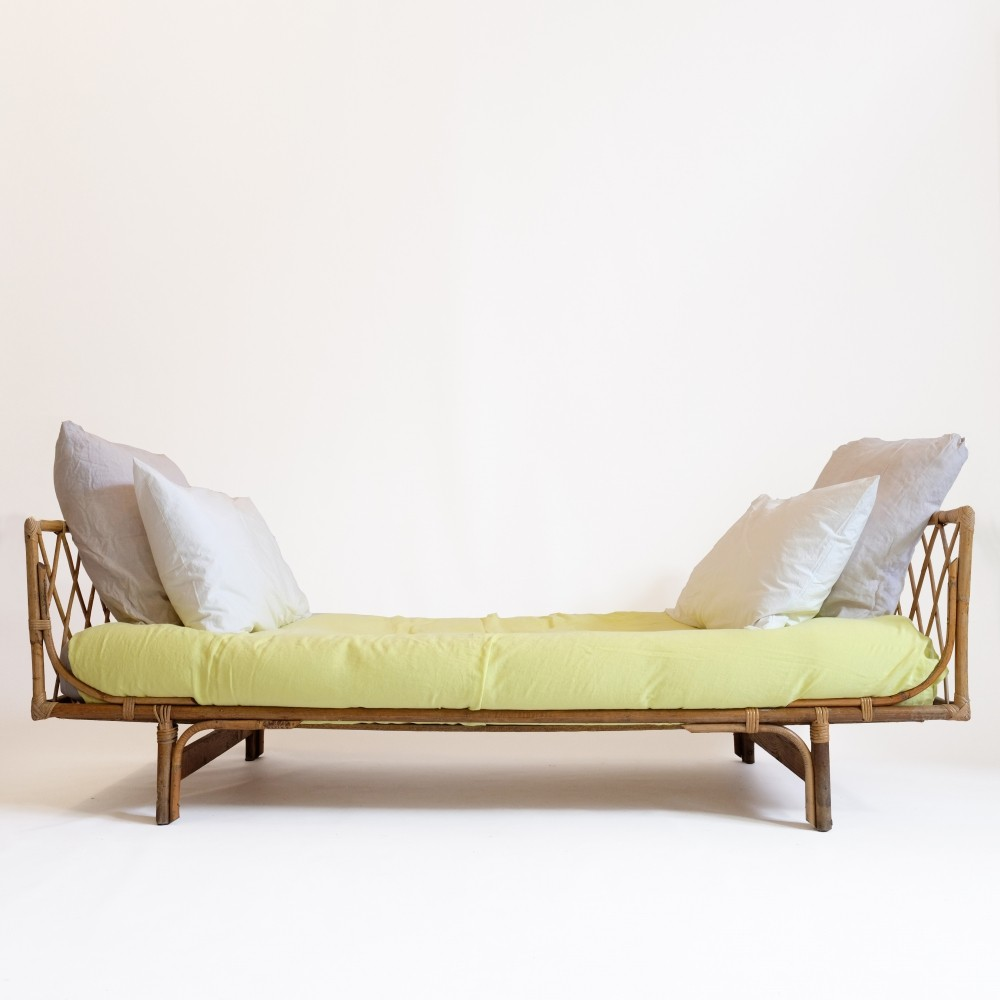 French rattan bed from the sixties