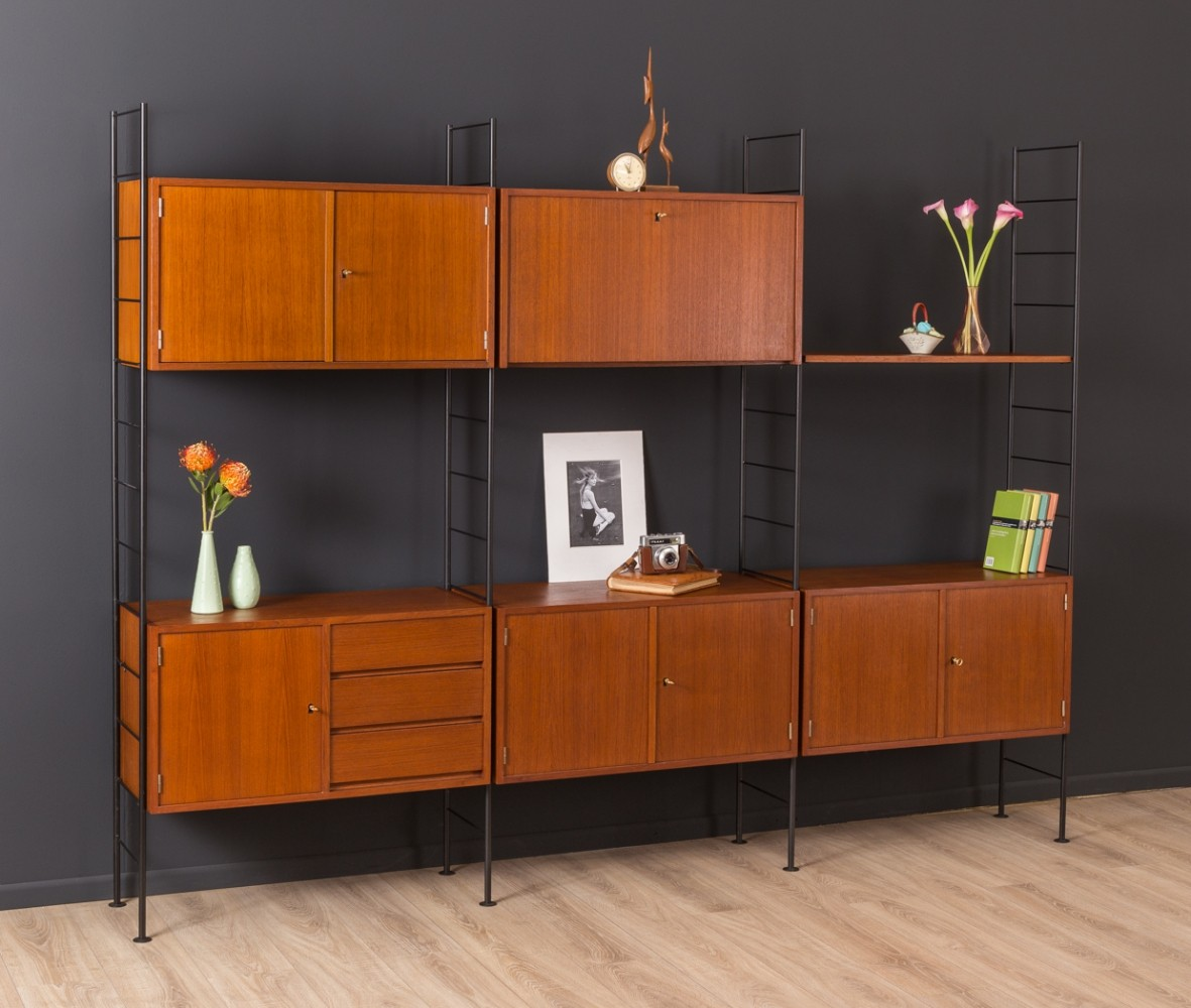 German wall unit by Holzäpfel KG from the 1960s