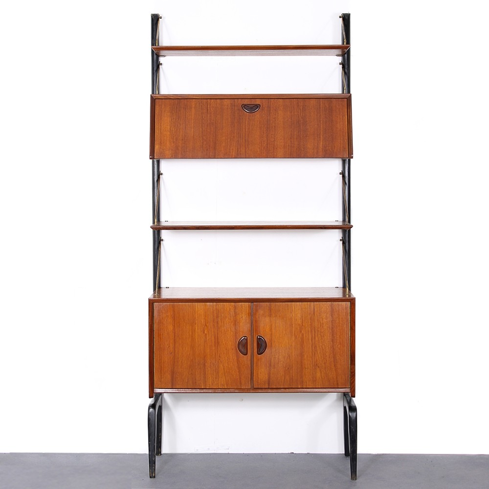 Vintage teak wall unit by Louis van Teeffeelen for Webe