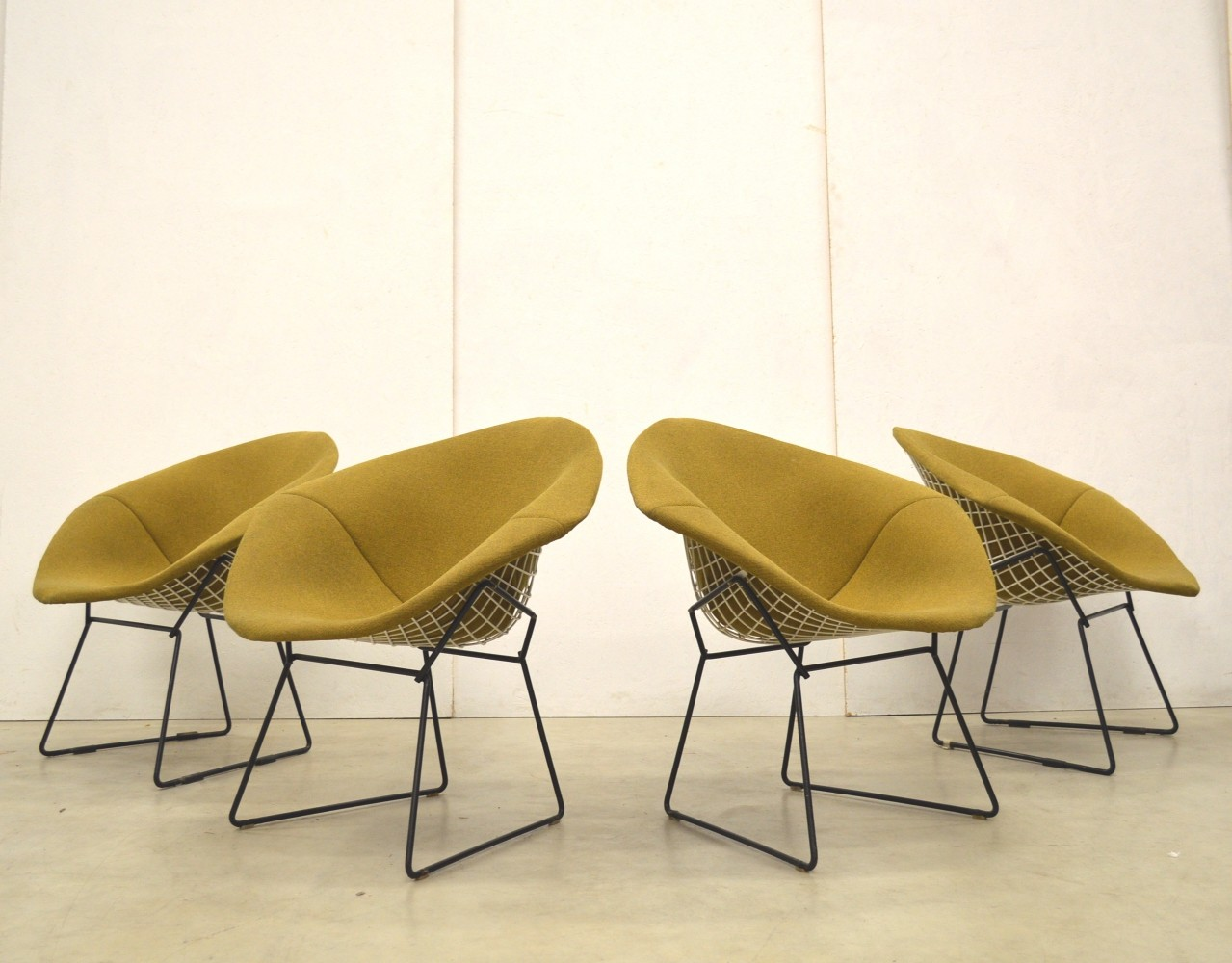 4 x Diamond lounge chair by Harry Bertoia for Knoll, 1960s