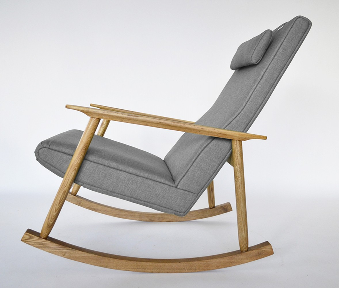 Vintage Rocking Chair by Valerija Ema Cukermanienė, 1960s