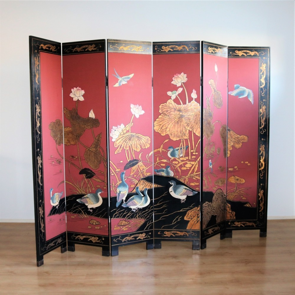 Vintage Chinese roomdivider, 1980s