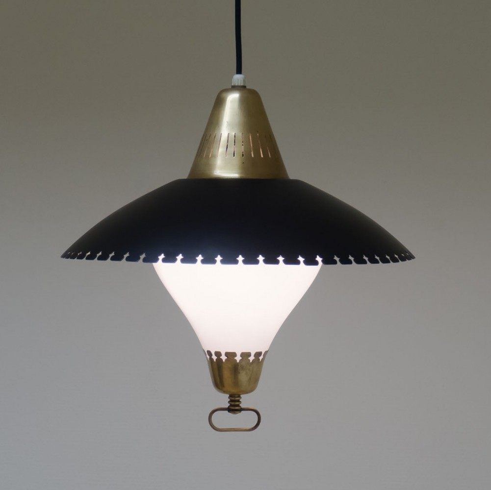 Hanging lamp by Bent Karlby for Lyfa, 1950s
