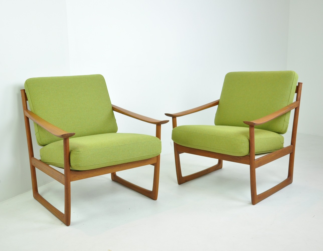 Pair of Easy Chairs by Peter Hvidt & Orla Mølgaard-Nielsen, Denmark 1960s