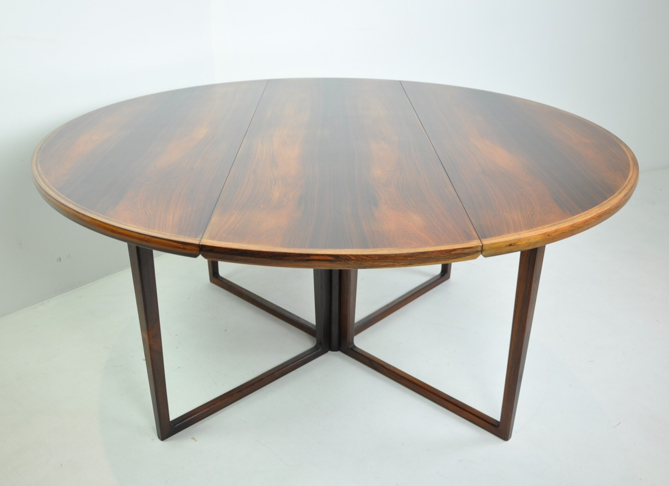 Round Dining Table in Rosewood by Helge Sibast, Denmark 1950s