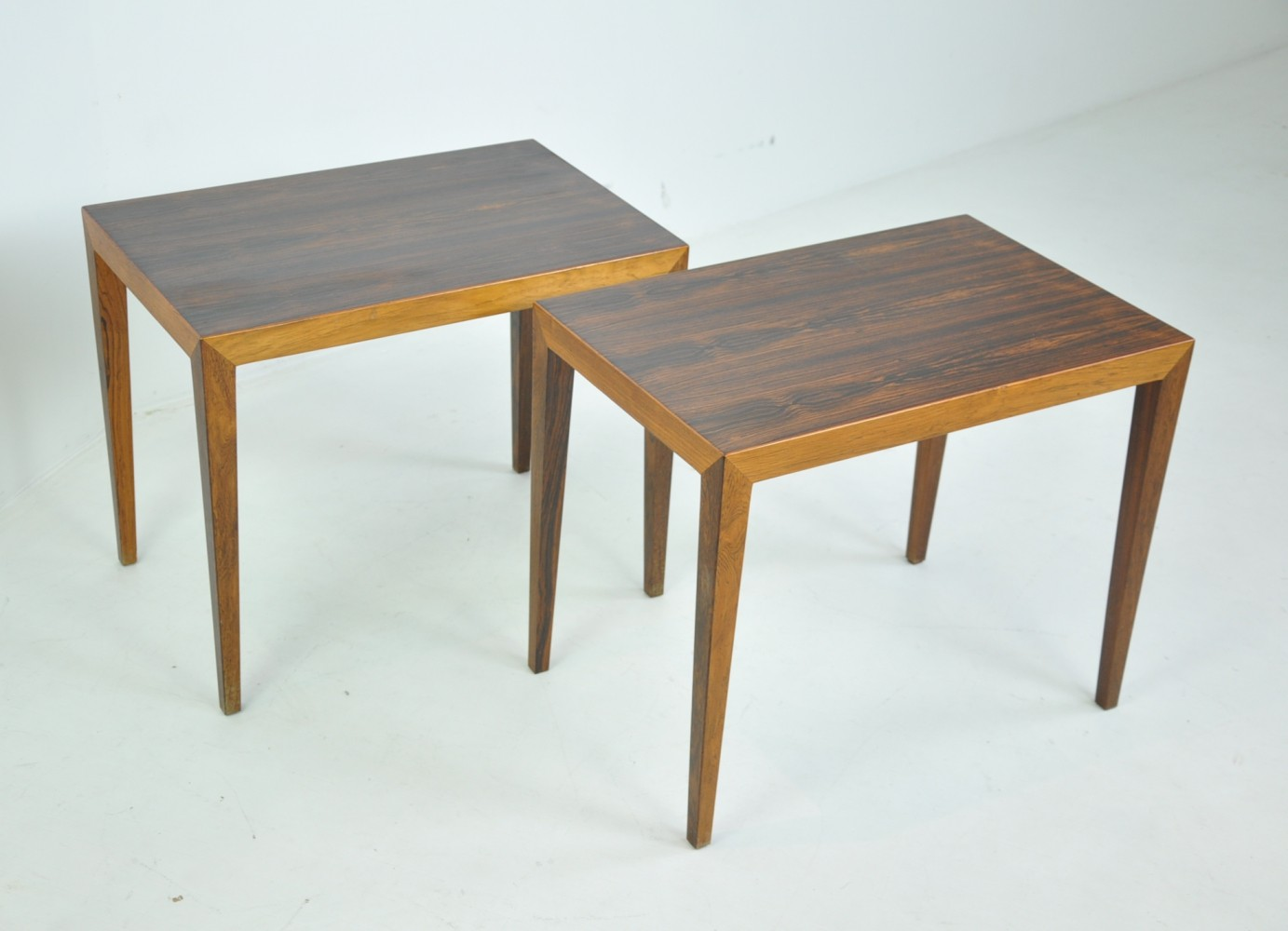 Pair of Rosewood Side Tables by Severin Hansen for Haslev, Denmark 1950s