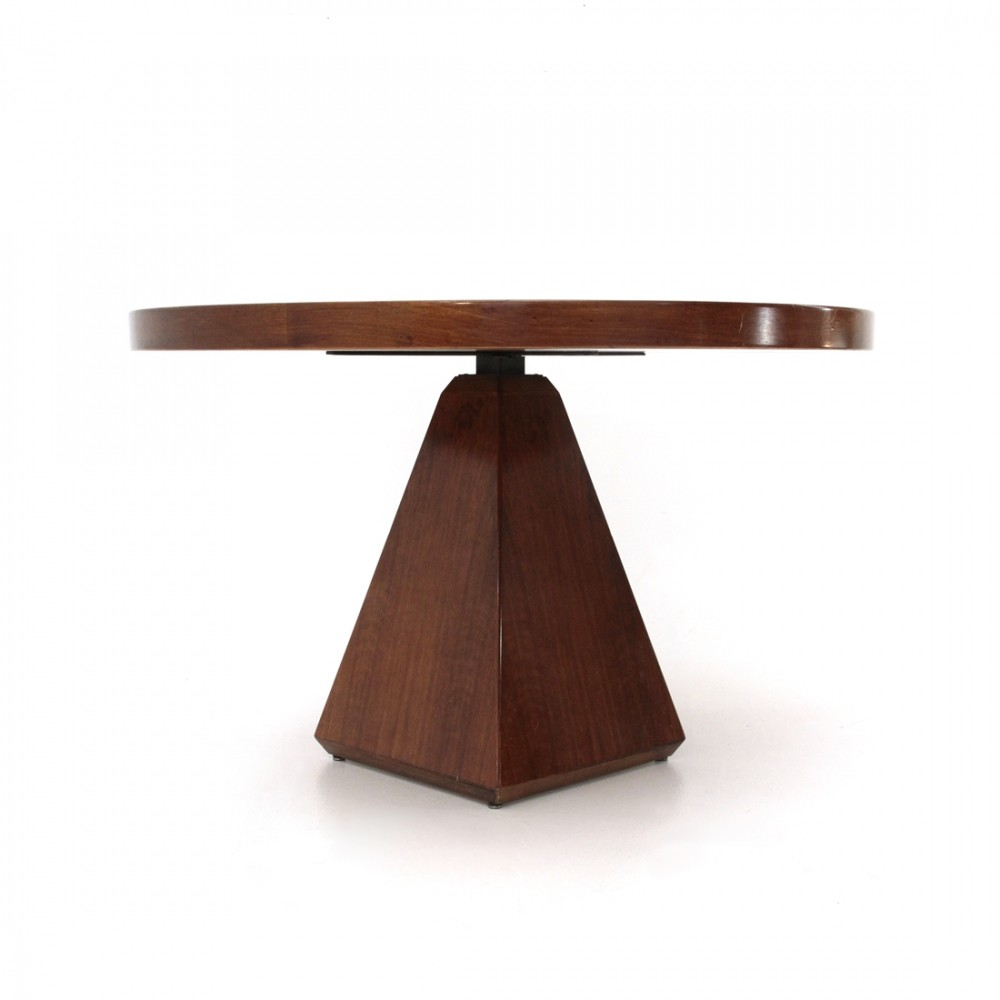 Italian Mid-century circular dining table by Vittorio Introini for Saporiti , 1970s
