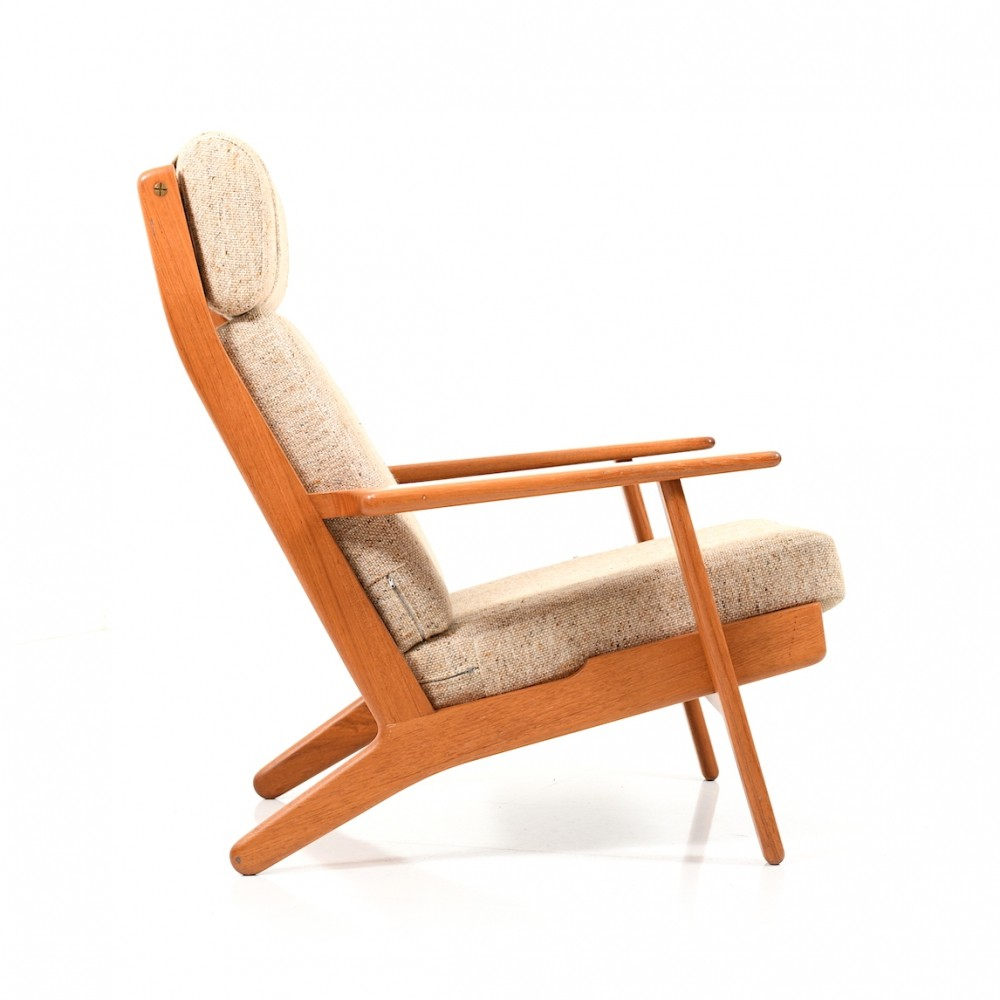 GE-290 Highback Lounge Chair in Teak by Hans J. Wegner