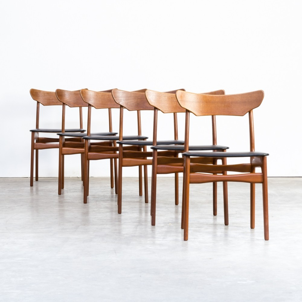 Set of 6 Schionning & Elgaard teak dining chairs for Randers, 1960s